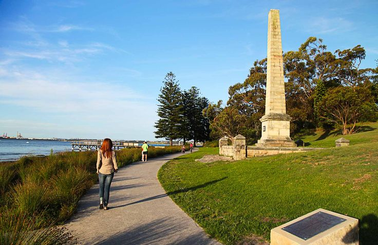 This Botany Bay where James Cook landed first in Australia . Picture is people walking at the monument. Photo:Andy Richards
