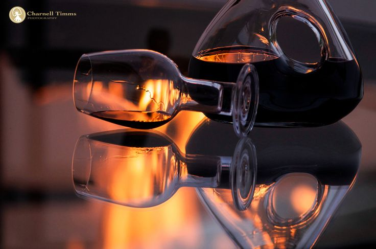 Perfectly paired: Riedel Red Wine glasses with a warm glowing fire.