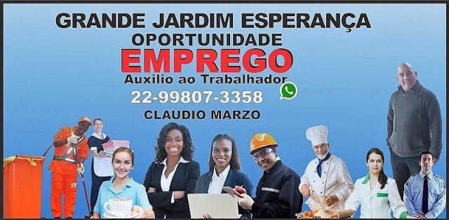 """GRANDE JARDIM ESPERANÇA OPORTUNIDADE DE EMPREGO: VAGA PARA AJUDANTE DE COZINHA """"FEMININA E RESIDENT..."""