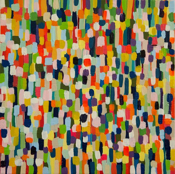 Colour field 2010 25cm x 25cm acrylic on canvas $380 by Georgia Gray