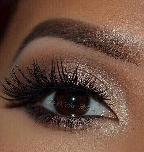 Lashes + Iridescent & Nude Eyeshadow