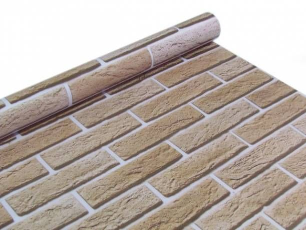 quarto com papel de paerede tijolinho papel de parede textura canjiquinha tijolo bege
