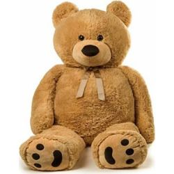 Jumbo Teddy Bear 5 Feet Tall - Tan