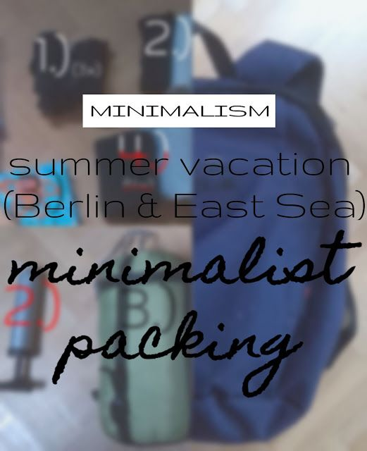 plannedpastel: Summer vacation- packing minimalist