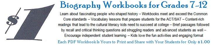 Free Printable textbook worksheets- warning- common core aligned