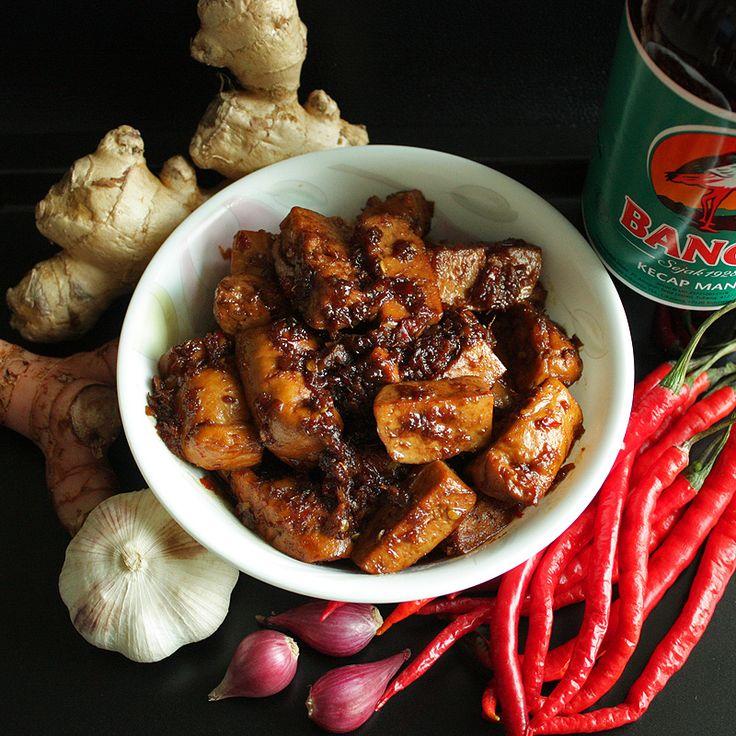 Tahu Kecap Kudus - Fried Tofu in Sweet Soy Sauce
