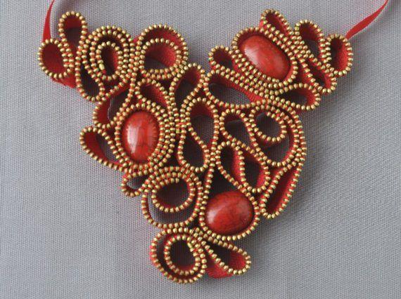 crafty jewelry from zippers | make handmade, crochet, craft