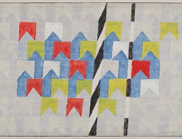 Bandeirinhas e Mastros. Década de 1960. Alfredo Volpi (1896-1988). Pintor ítalo-brasileiro.