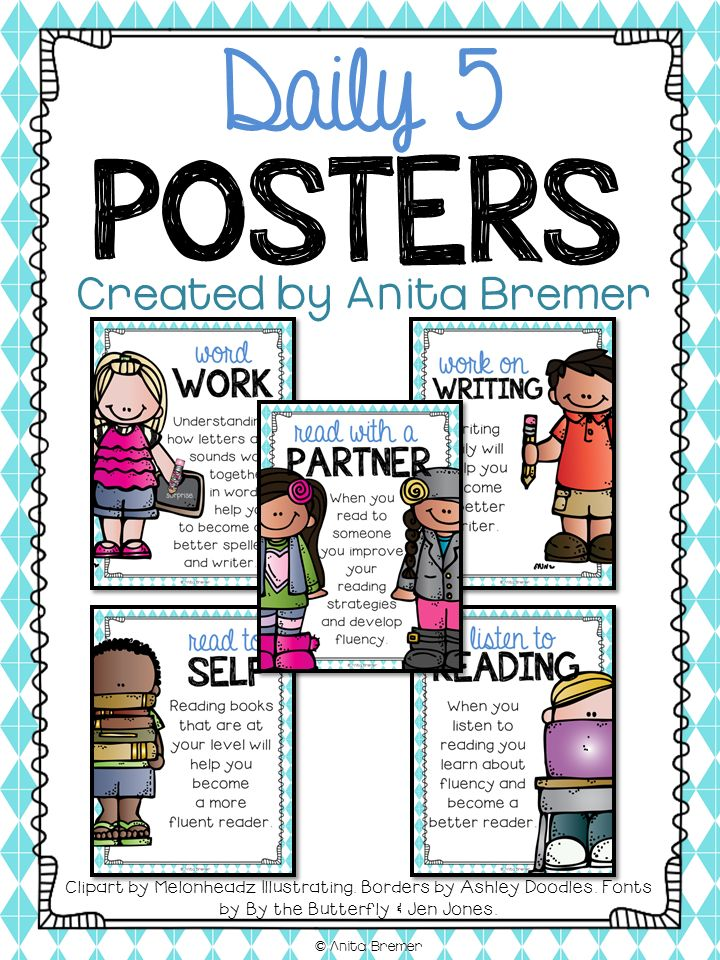 Mrs. Bremer's Class: {FREE} Daily 5 Posters                                                                                                                                                                                 More
