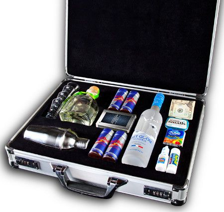 """Men's  party briefcase. You can make them for fare less than this one called """"The Football Briefcase"""" sells for (five hundred)"""