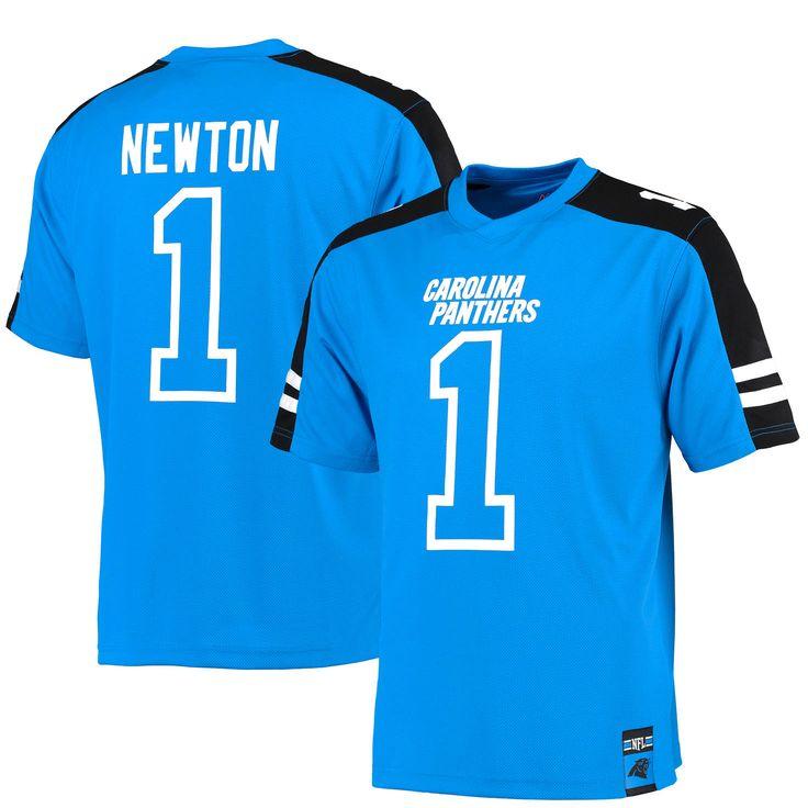 Cam Newton Carolina Panthers Majestic Hashmark Player Name & Number T-Shirt - Blue - $47.99