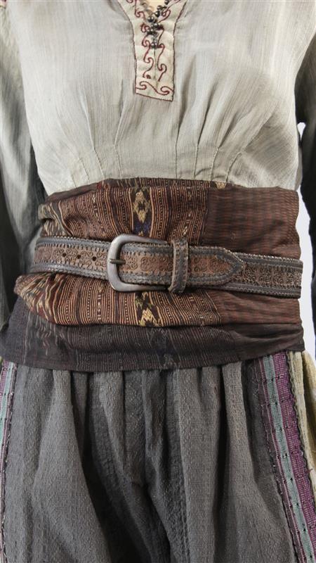 Pele shirt and belt 3 quarter length sleeves