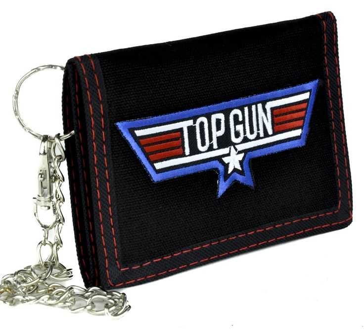 Top Gun Movie Tri-Fold Wallet with Chain Alternative Clothing Classic 80's