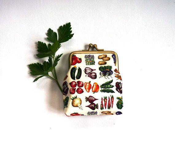 Gift for gardener garden purse vegetable lover vegan by maplemist
