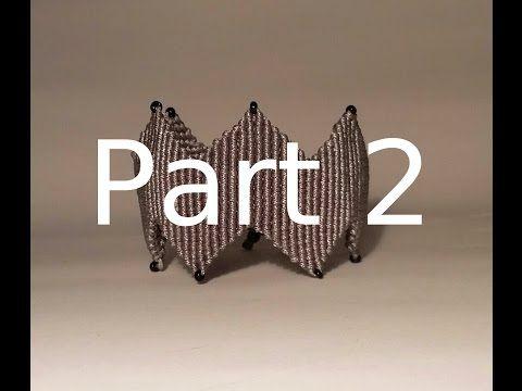 Βραχιόλι Μακραμέ με ZigZag Μέρος 2 / Micromacrame Bracelet Part 2 - YouTube