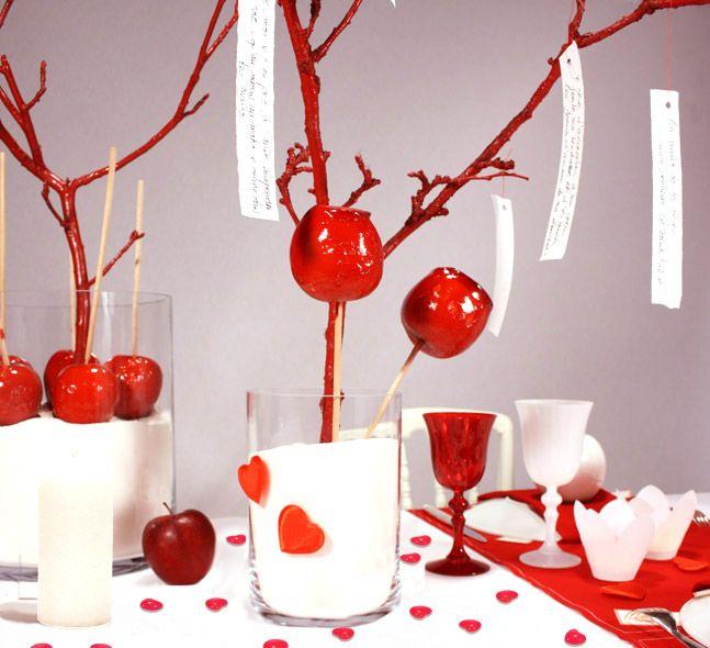 Un arbre à voeux pommes d'amour
