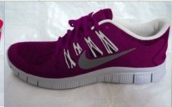 Nike Free Run 4 Womens Maroon White Pure Platinum Reflective Silver
