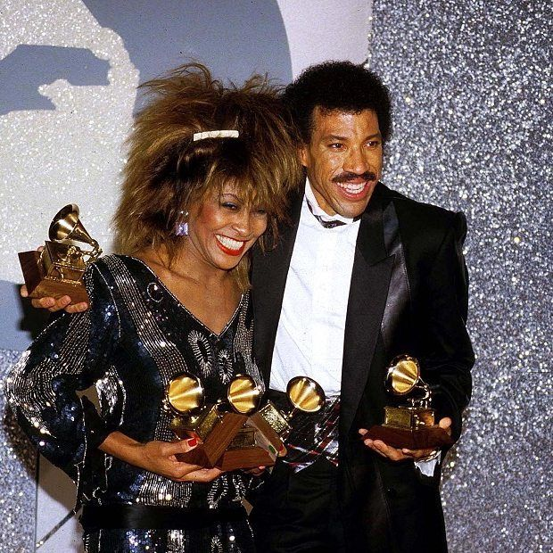 "Tina with Lionel Ritchie at the 27th Annual Grammy Awards on February 26, 1985. Tina won Record of the Year and Best pop vocal performance for ""What's Love Got to Do with It."" She also won Best rock vocal performance for ""Better Be Good To Me."" . . . #tinaturner #lionelrichie #1985 #grammys #1980s #retro #icon #80smusic #80sfashion #fashion #whatslovegottodowithit #tina #queenofrock #rockandroll #betterbegoodtome #awards #popmusic #vintage #singer #ikeandtina"