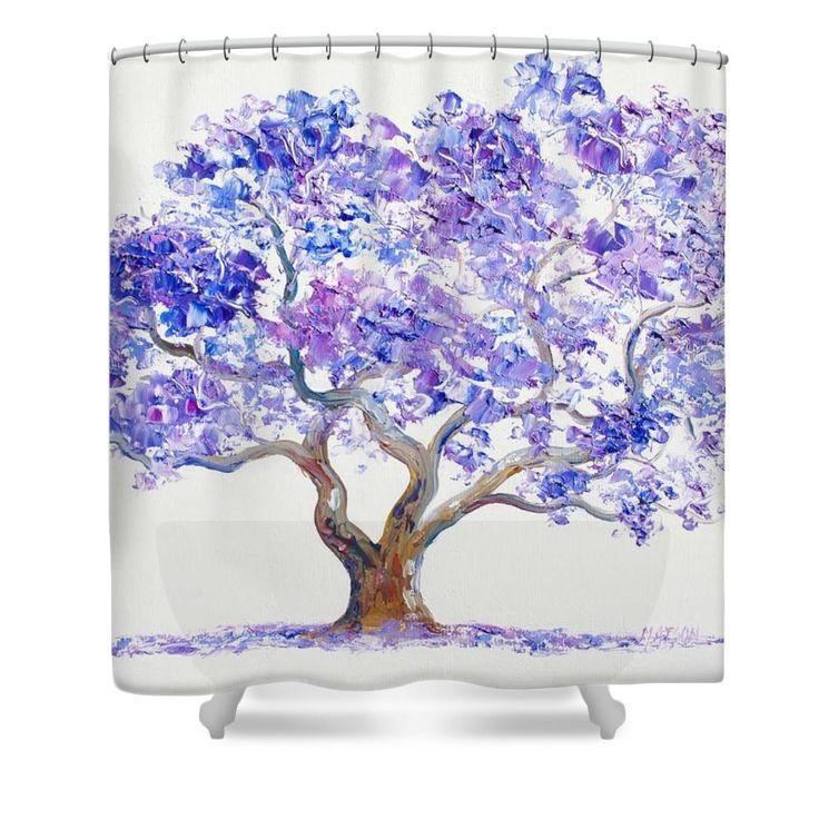 Jacaranda Tree Shower Curtain by Jan Matson