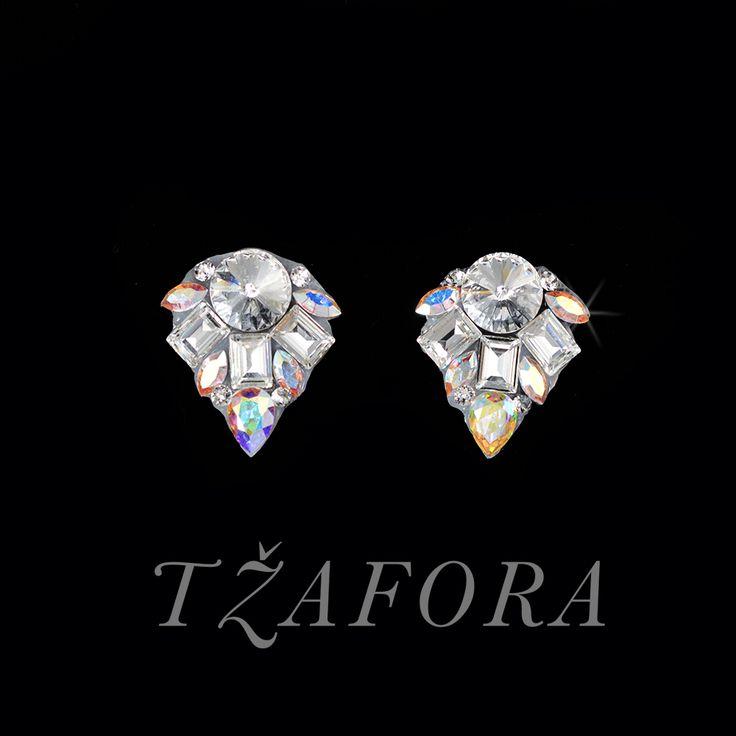 """No Doubt"" - Swarovski ballroom earrings. Ballroom dance jewelry, ballroom dance dancesport accessories. www.tzafora.com Copyright ©️️️️️️️ 2017 Tzafora."