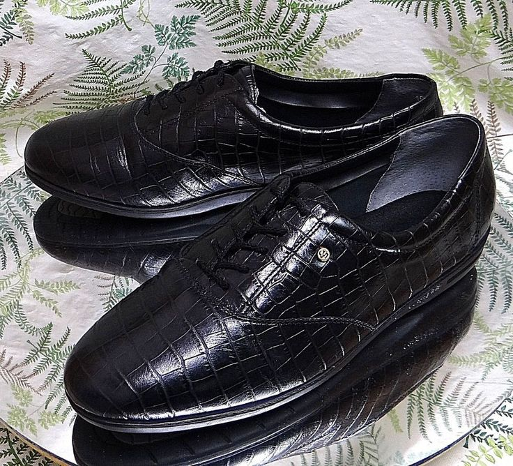 EASY SPIRIT BLACK LEATHER SNEAKERS OXFORDS WORK DRESS SHOES US WOMENS SZ 10 D #EasySpirit #Oxfords #Casual