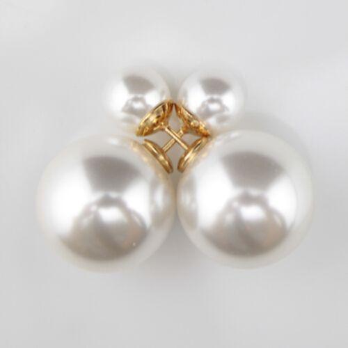 Mount Pearl earrings: Double Faced Pearl Stud Earring