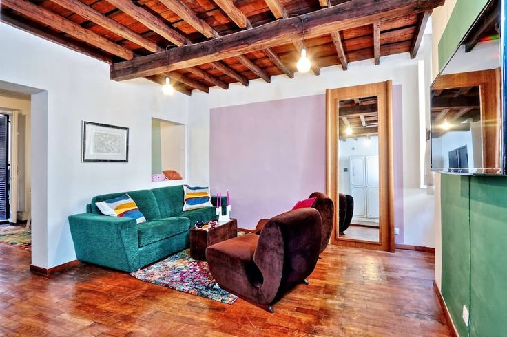 """Apartment in Roma, Italy. Charming apartment in the city center, few steps far from the most important monuments, which provides, A/C, TV 43"""", laundry machine, dish washer, oven, dock station, balcony, bedroom with king size bed, livingroom with queen size sofa bed, bathtu..."""