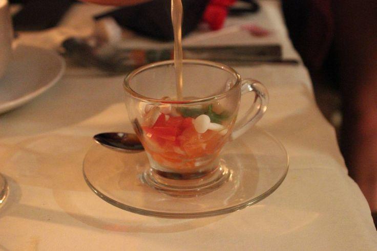 Salmon Tom Yum Tea