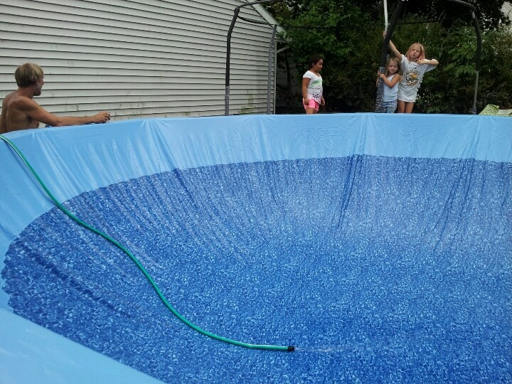 This Is Easy Way To Install Liner In Above Ground Pool Stretch Out Start Filling Let Down A