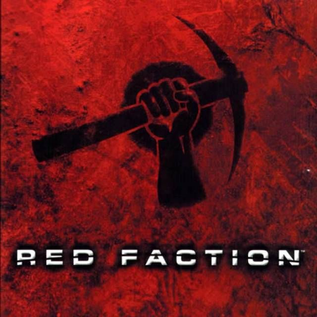 Red Faction resistance logo. Striking and distinctive black and red, similar colour scheme for Stop Abacus website?