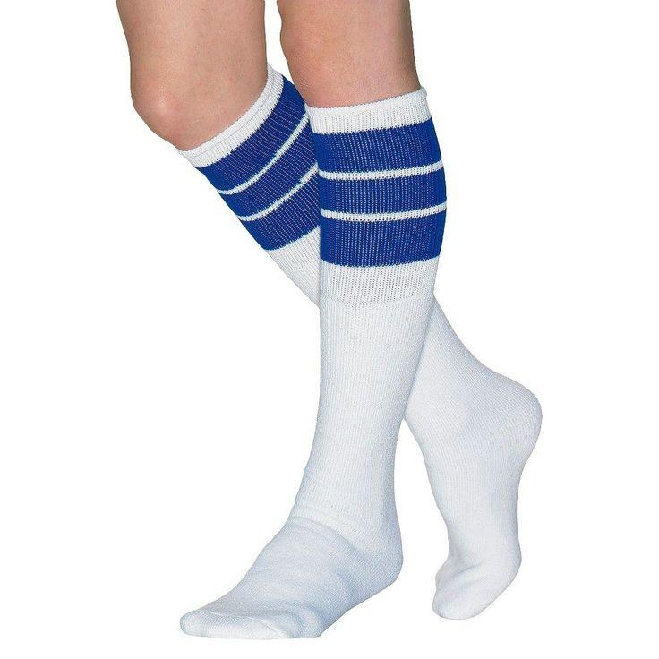 Wigwam Women's Classic King Tube Knee High Three Stripe Sock - Royal One Size