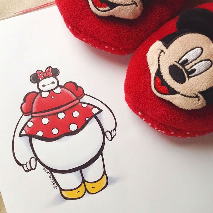 Best Baymax Images On Pinterest Baymax Birthday Party Ideas - Baymax imagined famous disney characters