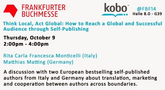 My participation to the Frankfurter Buchmesse 2014: self-publishing beyond language borders http://dld.bz/dyaaE
