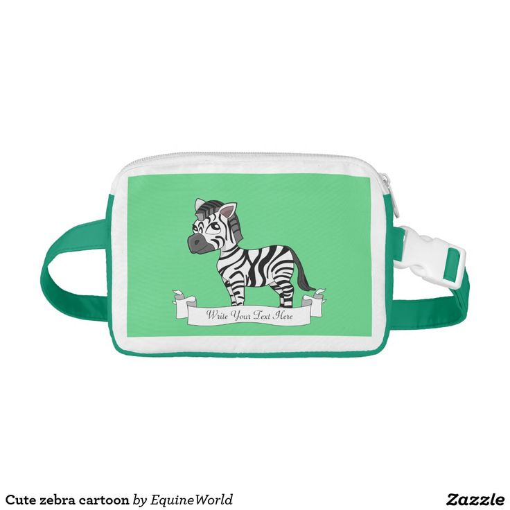Cute zebra cartoon nylon fanny pack