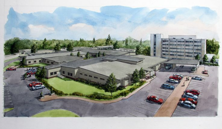 An artists impression of the new hospital - open to the public in May 2014