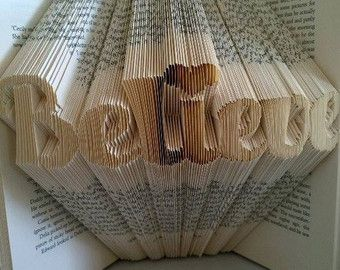 Pattern for Hope Folded Book Art PDF Book by FoldilocksCrafts