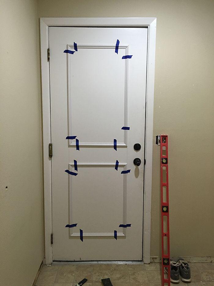 The easiest flat panel door update ever! & 25+ best ideas about Diy door on Pinterest   Farmhouse pet doors ... Pezcame.Com