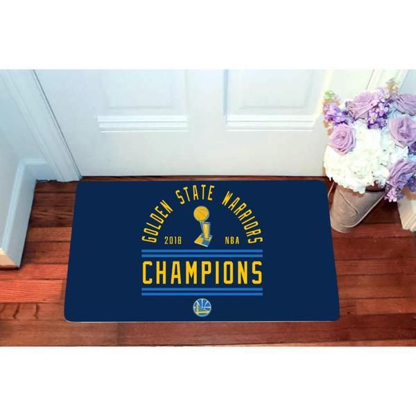 This Golden State Warriors Polyester Door Mat Makes A Welcoming And Decorative Addition To Your Front Porch This Welco Golden State State Decor Custom Doormat