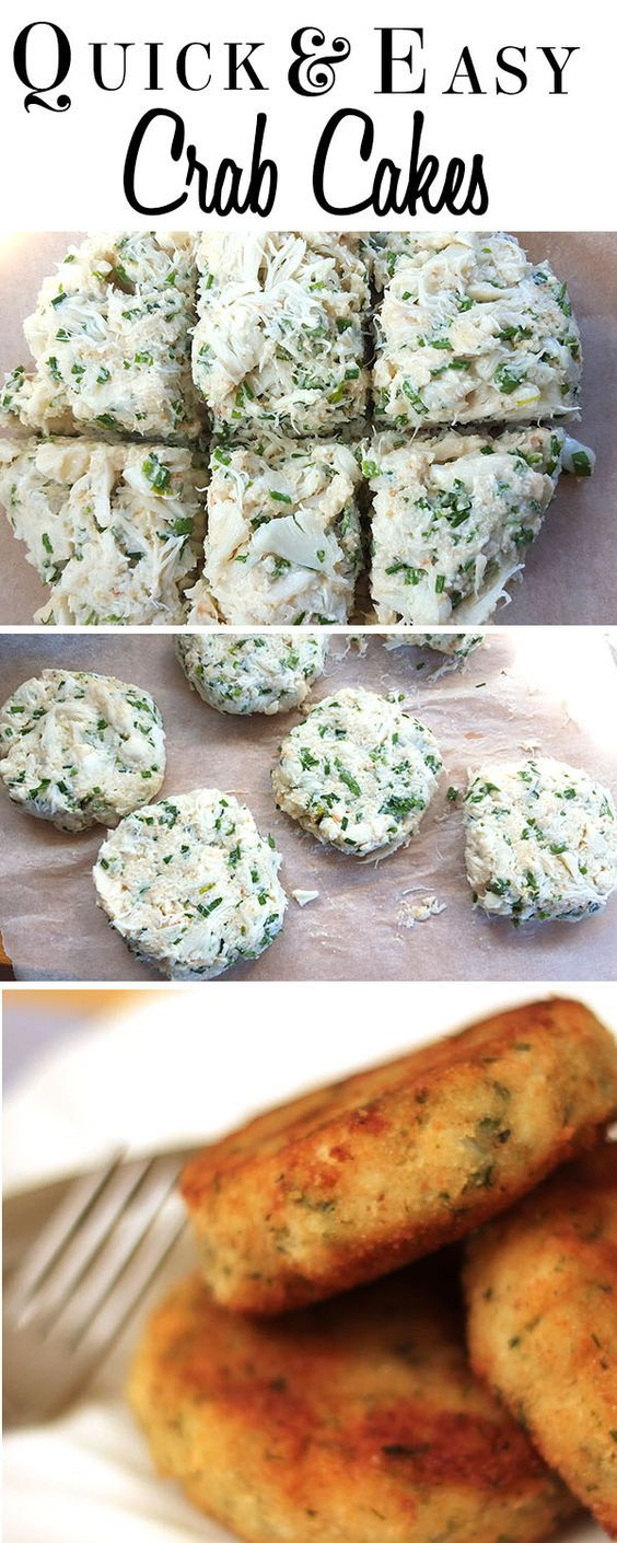 Quick & Easy Crab Cakes - Erren's Kitchen - This is a quick and easy recipe for crab cakes that uses canned crab meat instead of fresh, making it something that won't require running out for fresh seafood.