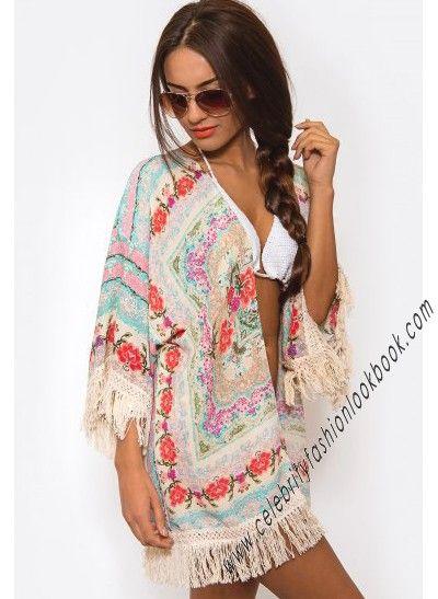 Fun and flirtatious that's the #Floral Kimono #Wrap http://celebrityfashionlookbook.com/kw2-floral-kimono-wrap-7034.html #beach #girl #teens #hot #streetstyle #fashion #fashionista