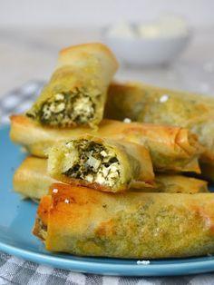 Cuuking! Recetas de cocina: Rollitos de espinacas y queso feta ¡Fáciles, rápid...