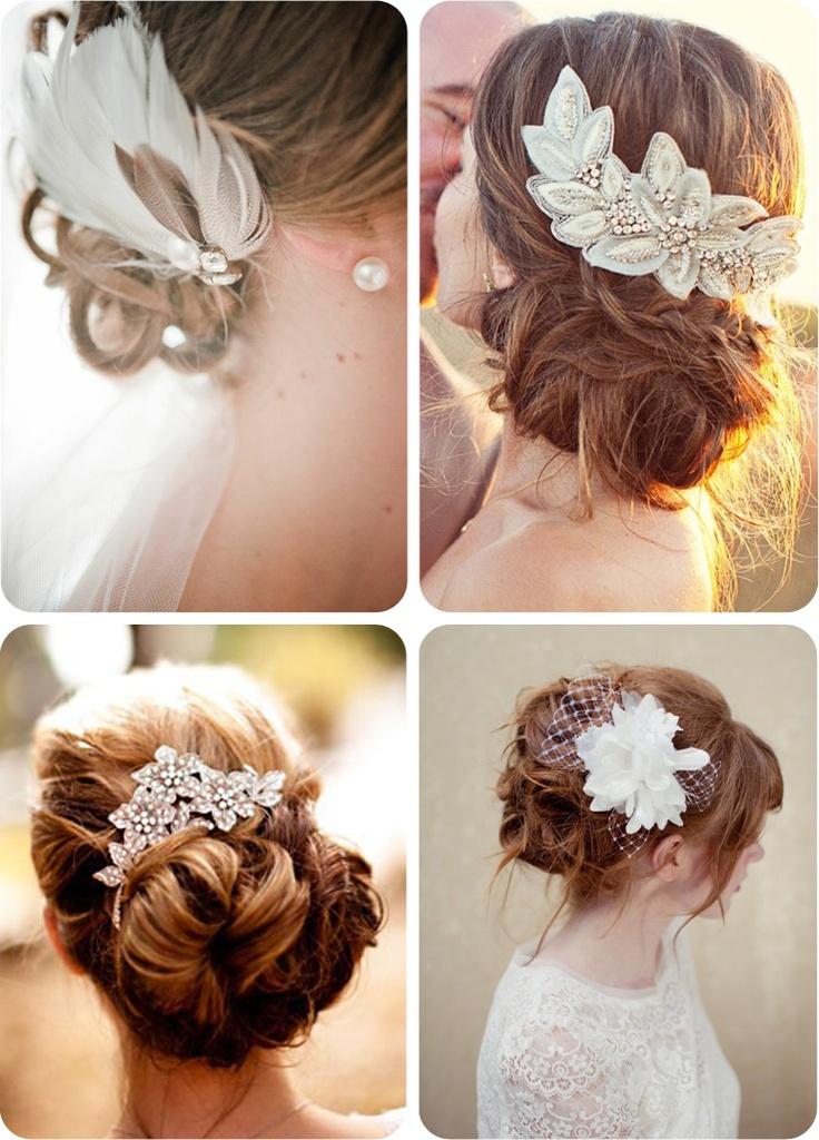 tocados joya, brocados y con plumas para dar un toque muy elegante a la novia: