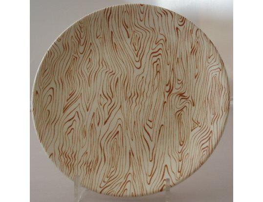 Driftwood tea plate by Crown Lynn www.vintagetreasure.co.nz