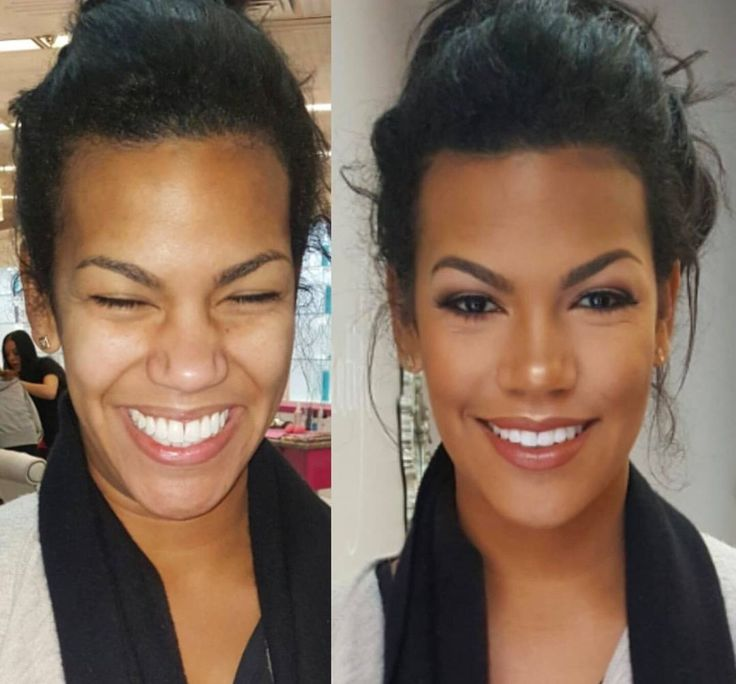 Can't decide which is more amazing that makeup transformation by BLO/OUT's Michelle or that smile!