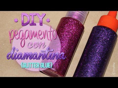 Como Hacer Glitter Casero FACIL | Pintura de Purpurina para Manualidades Pintura Facil - YouTube