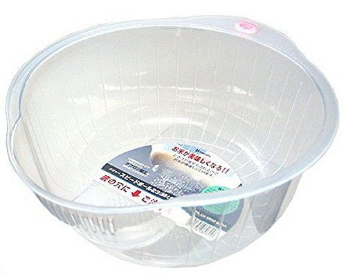 Plastic Wash Bowl is Great for wash Rice, Vegetable and Fruit. Water Strain from Side and Bottom. Dimension: 8.5 in x 4 in H.  - http://kitchen-dining.bestselleroutlet.net/product-review-for-inomata-0800-japanese-vegetable-fruit-rice-wash-bowl-8-inch-clear/