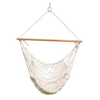 """Shop for Cotton Rope Hammock Swing (Natural) 44""""x 60"""". Get free shipping at Overstock.com - Your Online Garden"""