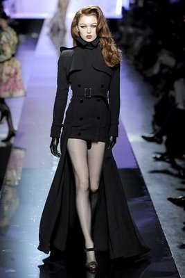 Militant goth chic. I need this coat.