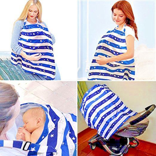 Breastfeeding cover easy view rigid neckline loveyush nursing APRON 100% cotton  #Kyapoo