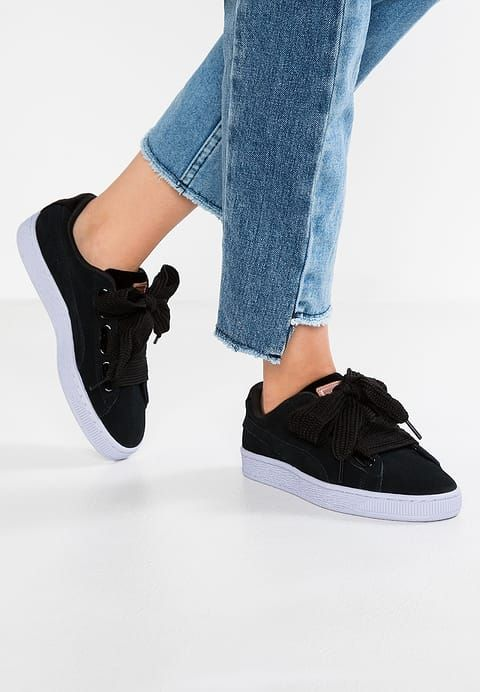 Chaussures Puma BASKET HEART VELVET ROPE - Baskets basses - black rose  gold icelandic blue noir  89 bf4045f2bb6